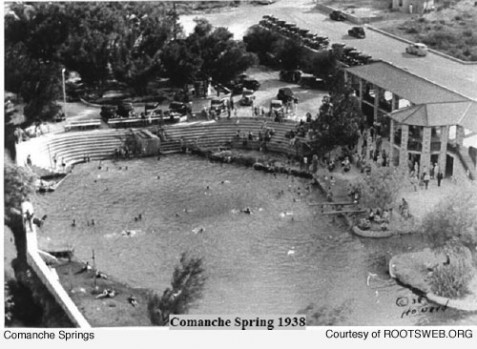 Comanche Springs Pool near Ft. Stocketon in 1938 Source: Image captured from rootsweb.org