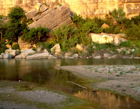 Springs flowing into the Pecos River Photo courtesy of Charles Kruvand