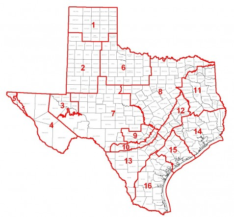 Groundwater management areas of Texas Map courtesy of TWDB