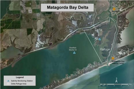Matagorda Bay Delta with Refugium. Image courtesy LCRA