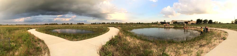 The Ann Hamilton trail at Indiangrass Preserve. Photographer: Jaime Gonzalez