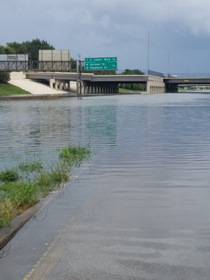 Flooding on Interstate 10, which runs through the heart of Houston.